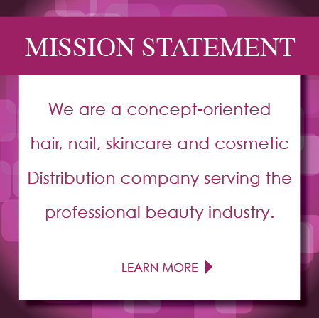 Professional salon and beauty products distributor in us for A mission statement for a beauty salon