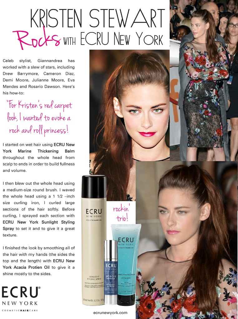 """Kristen Stewart Rocks with ECRU New York"""