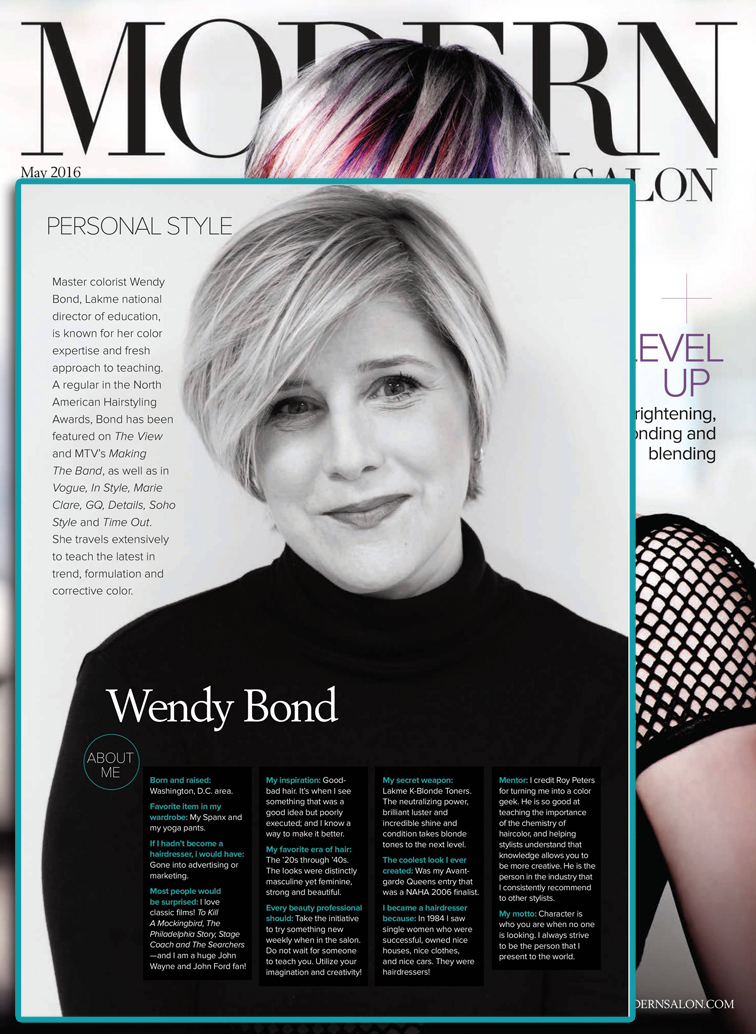 Wendy Bond in Modern Salon